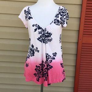 testament women's short sleeve v- scoop neck shirt